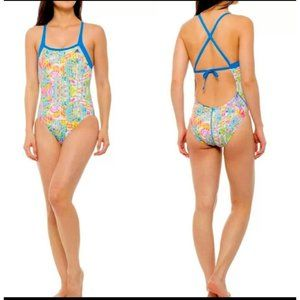 Adidas Size 28 Solace Thin Crossed Straps Swimsuit